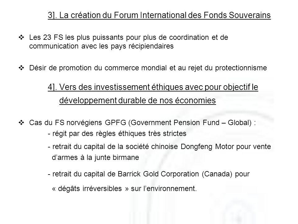 4]. Vers des investissement éthiques avec pour objectif le